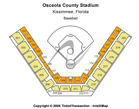 Osceola County Stadium Seating Map