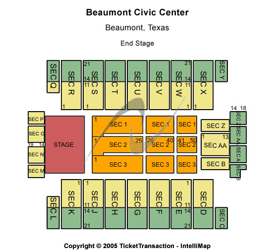 Beaumont Civic Center Seating Chart