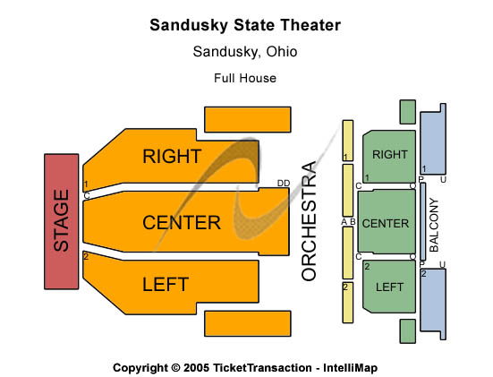 Sandusky State Theatre Seating Chart