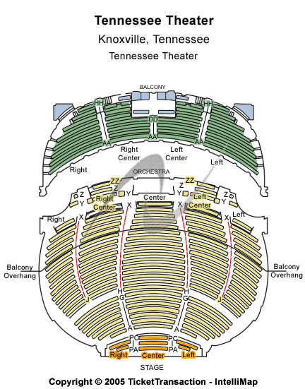 Tennessee Theatre Seating Chart