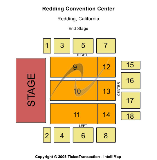 Redding Civic Auditorium Seating Chart