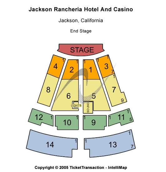 Jackson Rancheria Hotel & Casino Seating Chart