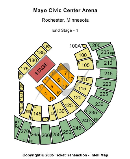 Mayo Civic Center Arena Seating Chart