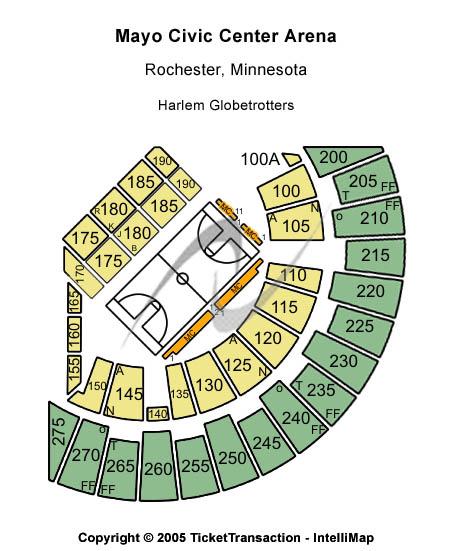 Mayo Civic Center Arena Seating Chart