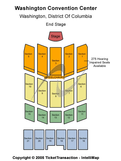 Washington State Convention Center Seating Map