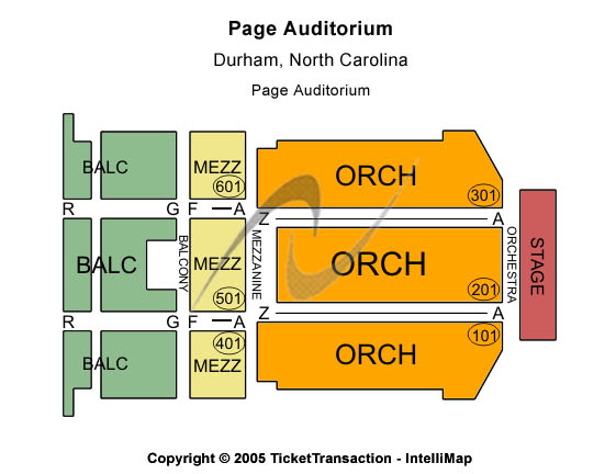 Page Auditorium Seating Chart