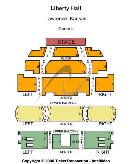 Liberty Hall Seating Chart