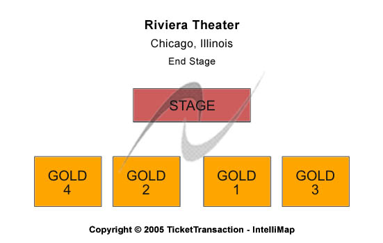 Riviera Theatre-il Seating Map