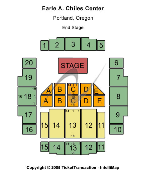 Earle A. Chiles Center Seating Chart
