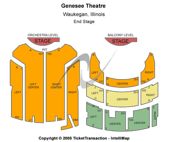 Genesee Theatre Seating Map