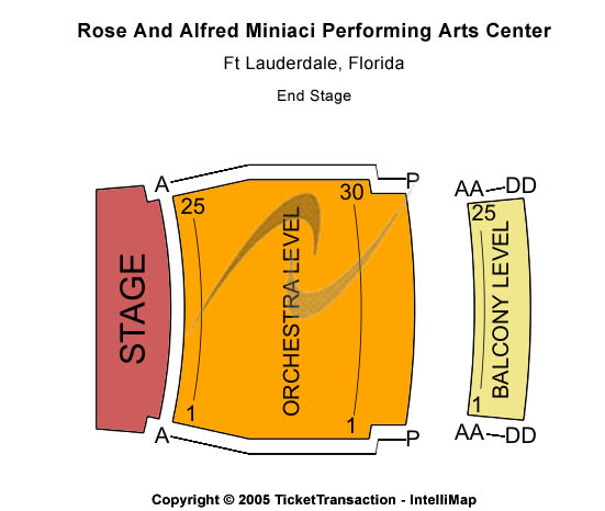 Miniaci Performing Arts Center Seating Chart