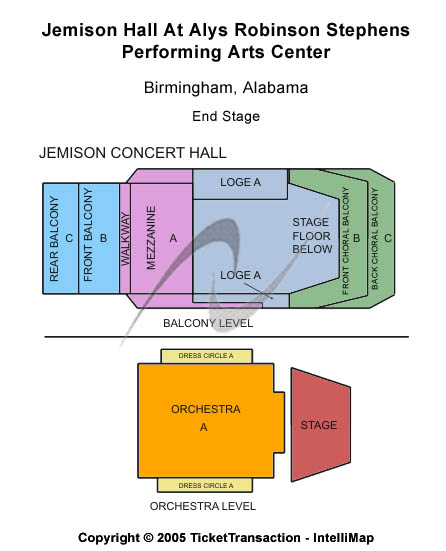 Jemison Concert Hall At Alys Robinson Stephens PAC Seating Chart