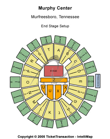 Murphy Center Seating Chart