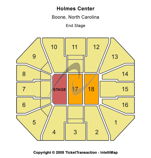 Holmes Center Seating Chart