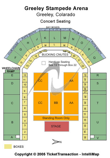 Greeley Stampede Seating Map