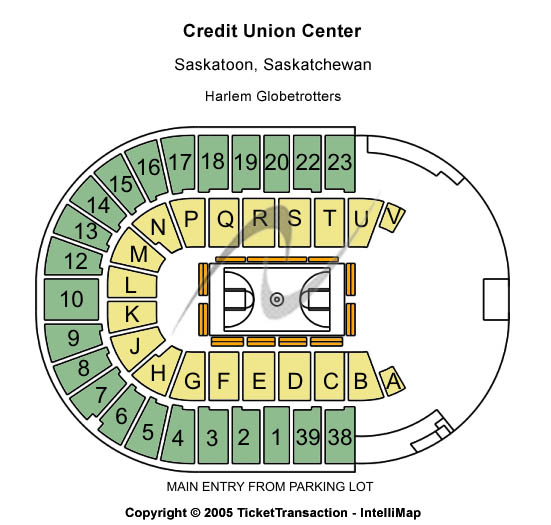 Credit Union Centre - Saskatchewan Place Seating Map