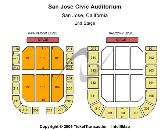 City National Civic Auditorium Seating Chart