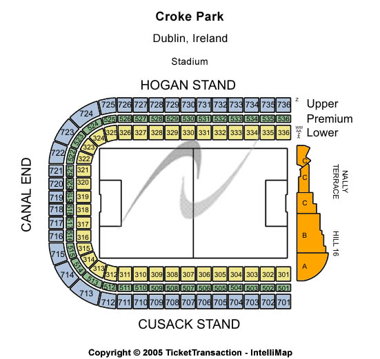 Croke Park Seating Map