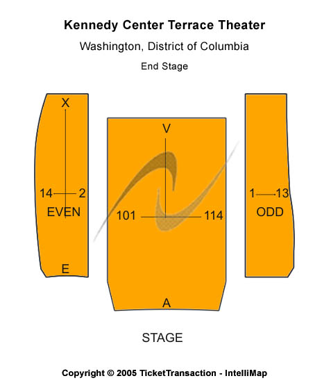 Kennedy Center Terrace Theater Seating Map