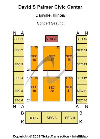 David S Palmer Civic Center Seating Map