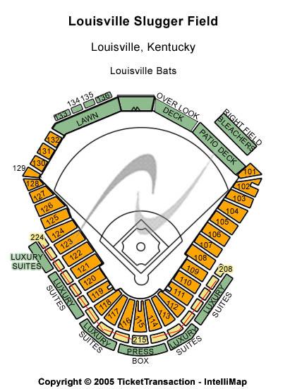 Louisville Slugger Field Seating Chart