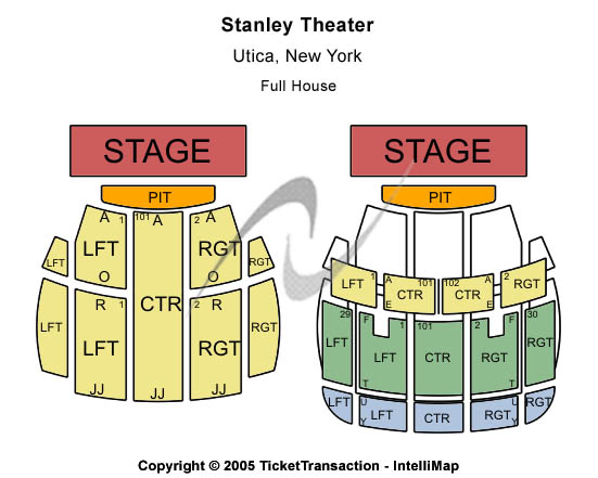 Stanley Theatre Seating Map
