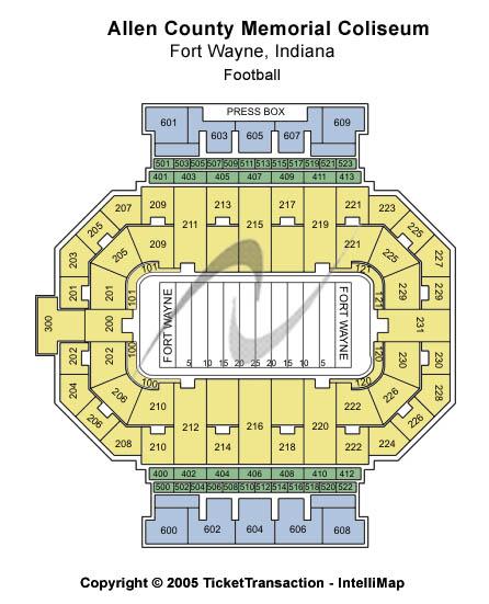 Allen County War Memorial Coliseum Football