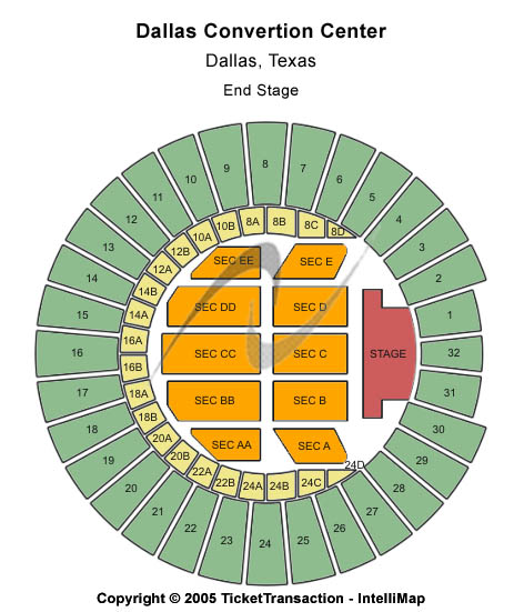 Dallas Convention Center Seating Map