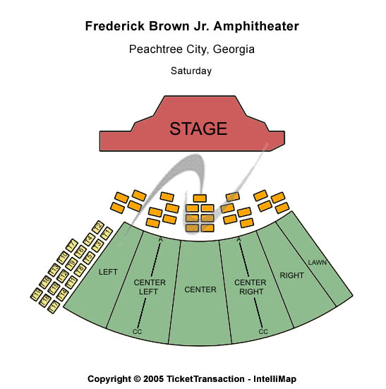 Frederick Brown Jr Seating Map