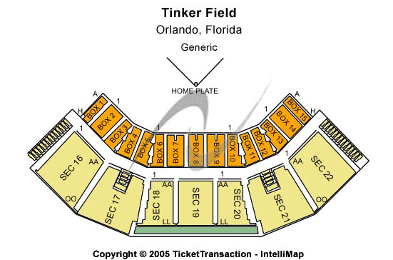 Tinker Field Seating Chart