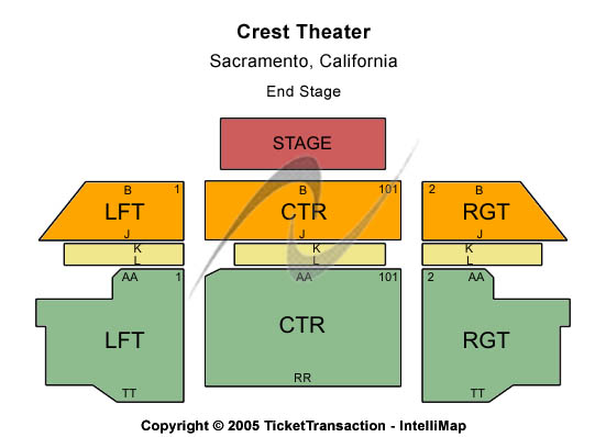 Crest Theatre Seating Map