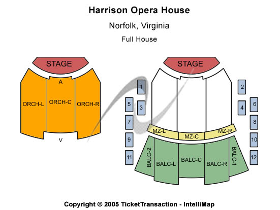 Harrison Opera House Seating Chart