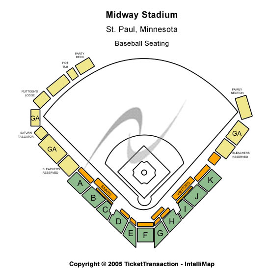 Midway Stadium Seating Map