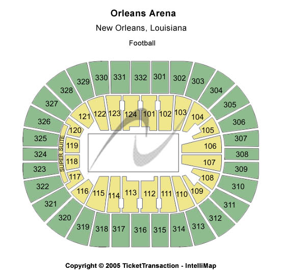 New Orleans Arena Seating Map