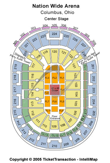 Nationwide Arena Seating Chart