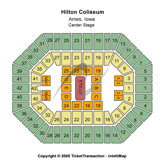 Hilton Coliseum Seating Chart