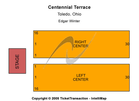 Centennial Terrace Seating Chart