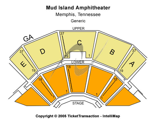 Mud Island Amphitheatre Seating Chart