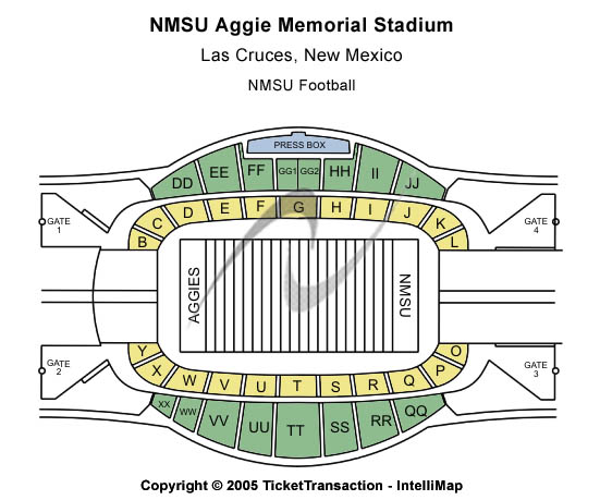 Aggie Memorial Stadium Nmsu Seating Map