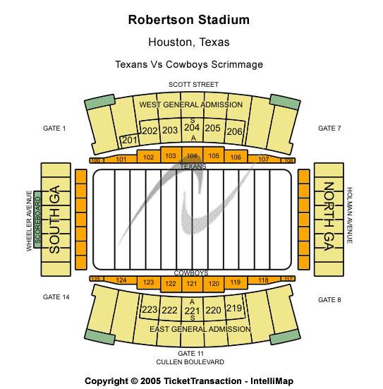 Robertson Stadium Seating Map