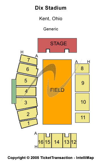 Dix Stadium Seating Map