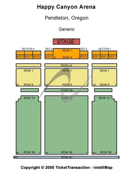 Happy Canyon Arena Seating Chart