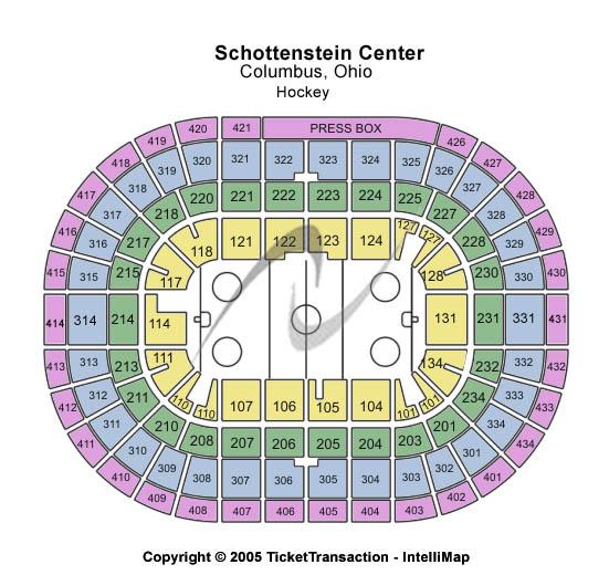Schottenstein Center Seating Map