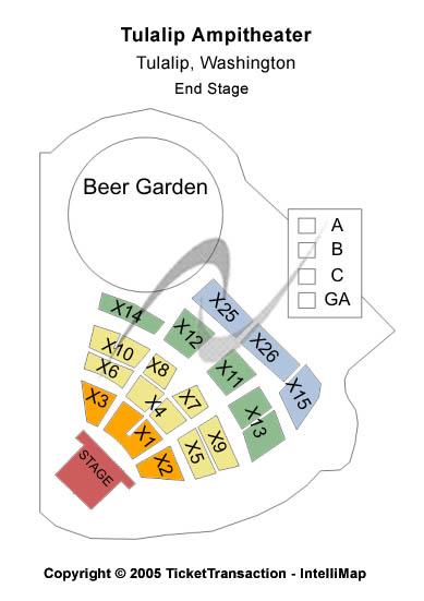 Tulalip Amphitheatre Seating Chart