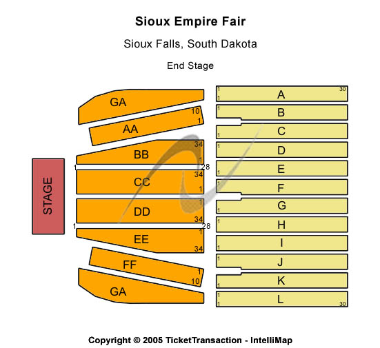 Sioux Empire Fair At W.H. Lyon Fairgrounds Seating Map