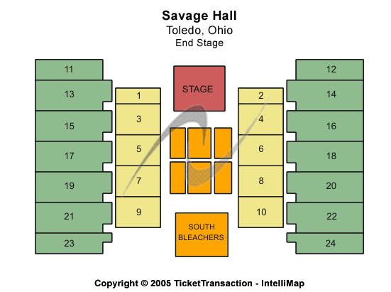 Savage Hall Seating Map
