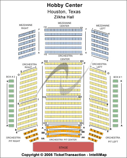 Zilkha Hall Seating Chart