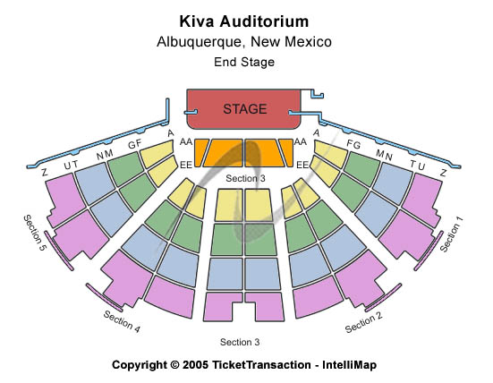 Kiva Auditorium Seating Chart