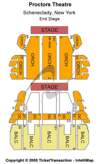 Proctors Theatre Seating Map