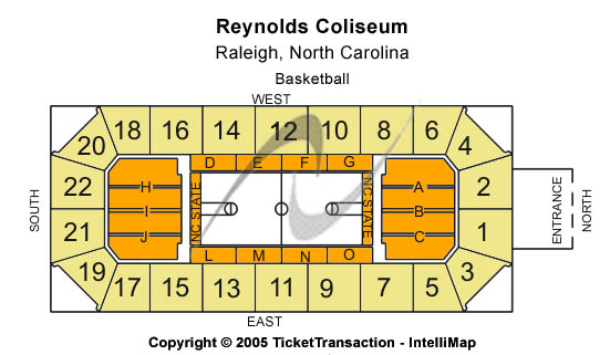Reynolds Coliseum Seating Chart